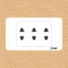 3 ổ cắm 2 chấu 16A sino mã S68U3
